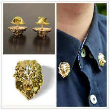 Popular Style Relief Lion Men/Women Shirt Suit Breast Brooches Pins 2pcs Decor