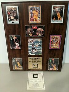 Shaquille O'Neal Taking the World by Storm w Rookie Cards w/ COA