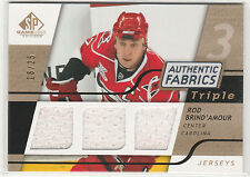 2008-09 SP Game Used Triple Authentic Fabrics Gold #3AFRB Rod Brind'Amour 16/25