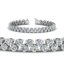5.3ct Round Cut VVS1 D Diamond Fancy Elegant Tennis Bracelet 14k White Gold Over