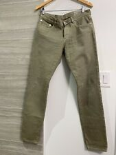 100% Authentic BRUNELLO CUCINELLI Men's Light Green Jeans EU 48 / US 32