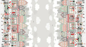 Cotton Fabric Metre Makower - Pamper - Double Border Print