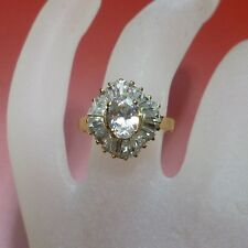 52 (16,5 mm Ø) Ring in 585/14K Gold mit ZIRKONIA Steinen