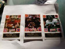 1986 McDonalds Play And Win NFL All Star 30 Card Set. BLACK Tab