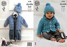 """King Cole Knitting Pattern 4198~Jackets & Hat~DK~16-26"""""""