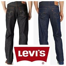 Levis 501 Original Shrink To Fit Button Fly Jeans Rigid Blue Black