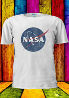 Nasa Geek Nerd Retro Vintage Logo T-shirt Vest Tank Top Men Women Unisex 317