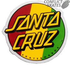 """SANTA CRUZ """"Rasta Dot"""" Skateboard Snowboard Surfboard Sticker Decal 8cm"""
