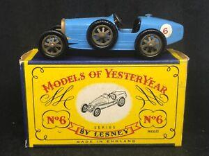 VNMIMB Matchbox Yesteryear Y6-2-2 1926 Type 35 Bugatti w Orig Type C box