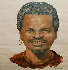 DENIS MURPHY AFRICAN MAN VINTAGE COLOR OFFSET LITHOGRAPH