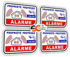 Sticker Alarme - Lot de 4 Stickers - Autocollant ( iphone samsung Ps4 ipad )