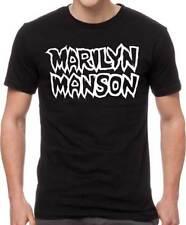 Marilyn Manson Classic Logo Industrial Metal Glam Rock Music T Shirt Mam10027