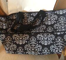 Vera Bradley Lighten Up Expandable Travel Bag Tote Chandelier Noir NWT