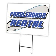 PADDLE BOARD RENTAL Yard Sign & Stake outdoor plastic coroplast window