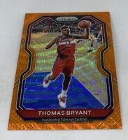 2020-21 Panini NBA Prizm Thomas Bryant Orange Wave SP #15/60