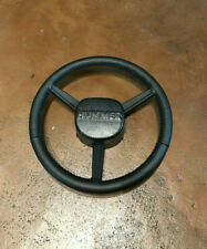 Hummer H1/ Humvee - Hand-stitched Leather Steering Wheel - Gray Stitch