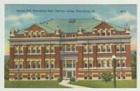 Unused Postcard Science Hall Bloomsburg State Teachers College Pennsylvania PA