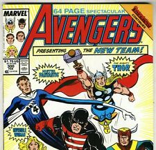 The AVENGERS #300 with Captain America & Thor from Feb 1989 in VF- con NS