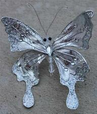 Butterfly Clip Wreath Decoration Craft Wedding Spring Wreath Floral Silver 726