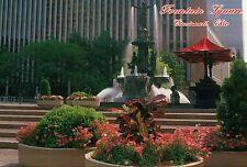 Fountain Square, Cincinnati, Ohio, Statue, The Genius of Water, Flowers Postcard