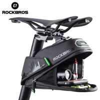ROCKBROS Rainproof Bike Cycling Saddle Bag Seat Pouch Bicycle Tail Rear Storage