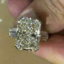 14k White Gold 3.80 ct Radiant Cut Diamond Engagement Ring !!