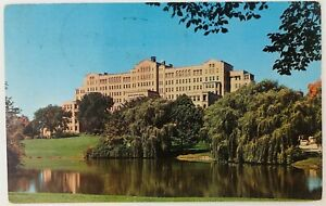 Vintage Milwaukee Wisconsin WI County Hospital 1956 Pond Trees