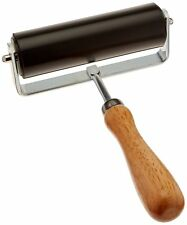 """4"""" Multipurpose Brayer Roller with Handle for Stamping Screening Polymer Clay"""