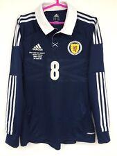 SCOTLAND 2012 2014 ADIDAS MATCH PREPARED WORN HOME FOOTBALL SHIRT JERSEY # 8
