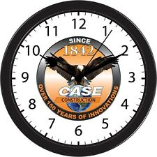 Case Eagle Earth Farm Tractor Machinery Clock Black Trim Wall Decoration