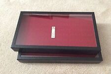 """Box (of 2) 8 x 14-1/2 x 1-3/4"""" Display Cases for Rings (""""Riker"""" type)"""