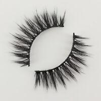 Makeup Cross Handmade Eyelashes 3 Pairs False 3D Thick 100% Real Mink Eye Lashes