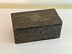Antique Grain-Painted Wood Document Box from Vermont Estate