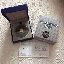 Pièce de 5 € en or France 2012 - La Semeuse - 10 ans de l'euro