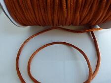 10 meters (10m) Bronze 2mm Rattail Rat Tail Satin Nylon Threading Beading Cord