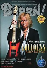 Burrn! Heavy Metal Magazine January 2016 Japan Loudness Slayer Megadeth
