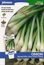 Johnsons - Vegetable - Onion (Spring) White Lisbon Winter Hardy - 600 Seeds