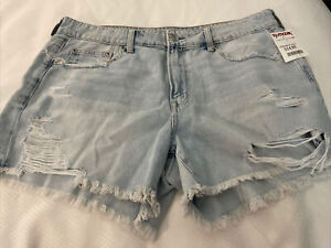 NWT AE AMERICAN EAGLE OUTFITTERS TOMGIRL MIDI WOMENS JEAN SHORTS SIZE 14