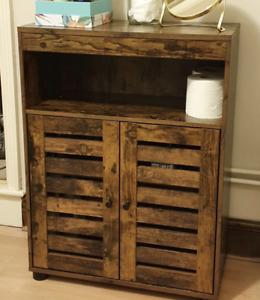Vintage Industrial Cupboard Slim Storage Cabinet Rustic Metal Hall Sideboard