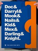 New York Mets 1986 Print Poster Gooden Carter Strawberry Hernandez World Champs