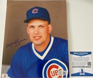 Mark Grace Signed Chicago Cubs 8x10 Photo Beckett BAS COA Autograph FREE SHIP