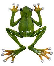 Tree Frog Green Climbing Metal Hanging Wall Art Sculpture Garden Décor *43 cm*
