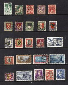 Switzerland Small Used Semi-postal Lot FVF, CV $325-350 (app,2021), see desc.