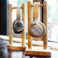 Wooden Headphone Holder Headset Stand Desktop Earphone Hanger Rack Display