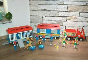 Playmobil zum Klicky Zirkus Zirkuswagen Unimog und 2 Anhänger Figuren Zubehör