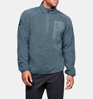 Under Armour Trek Sherpa Mens 1/4 Zip Blue Sweatshirt Fleece Size 2XL 1355431013