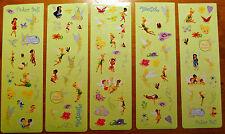 Disney World TINKERBELL Fairy Scrapbook Stickers Faeries Fawn 5 Sheets!