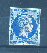 GREECE 1861/2 Large Hermes Head  Fine impress. 20Lep Hellas 13 II c