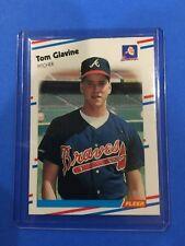 1988 FLEER #539 TOM GLAVINE BRAVES ROOKIE