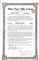 Advance Structures, Incorporated > 1928 London, England old stock certificate